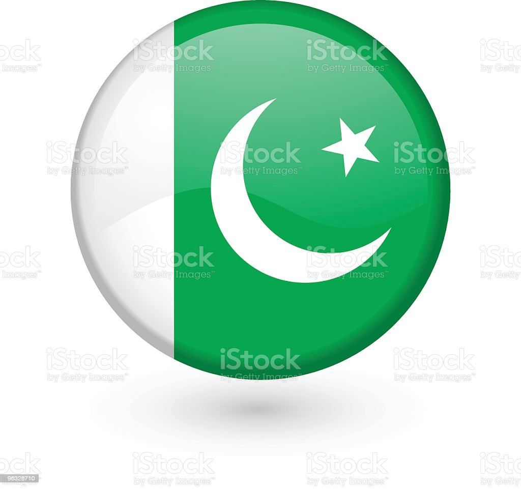 Pakistani flag vector button royalty-free stock vector art