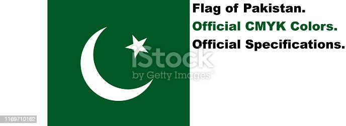 istock Pakistani Flag (Official CMYK Colours, Official Specifications) 1169710162
