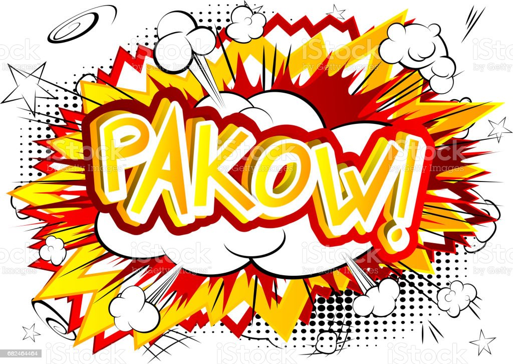 Pakow! - Comic book style expression. 免版稅 pakow comic book style expression 向量插圖及更多 卡通 圖片