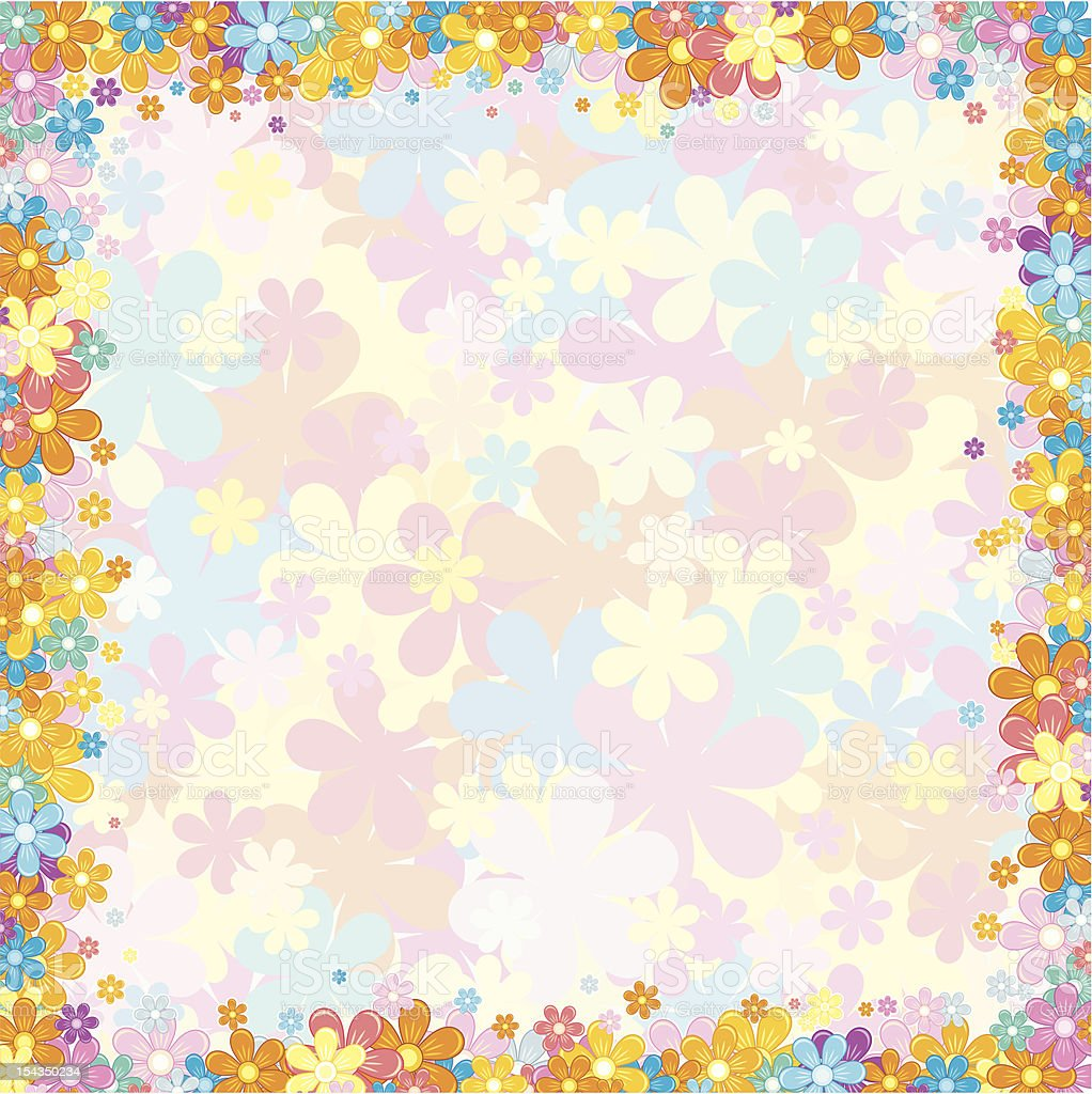 Pale Floral Background royalty-free stock vector art