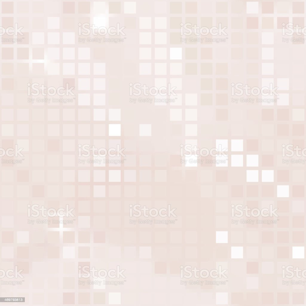 pale pink background of small squares vector art illustration