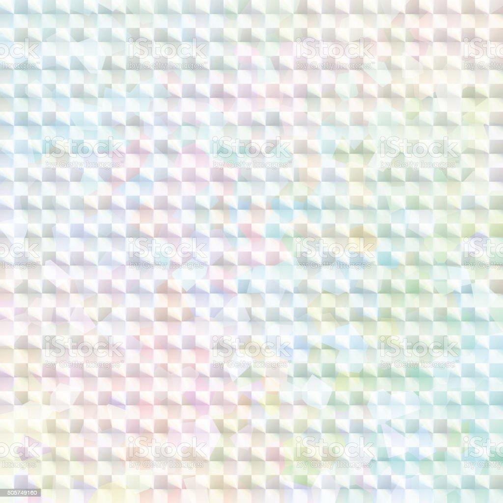 淡い虹色のホログラムステッカー ベクターアートイラスト