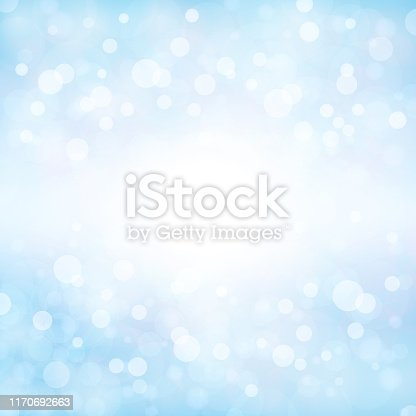 istock Pale soft blue coloured shining starry square backgrounds stock vector illustration. Xmas winter white and blue coloured stock background 1170692663