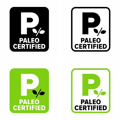 Paleo certified vector information sign