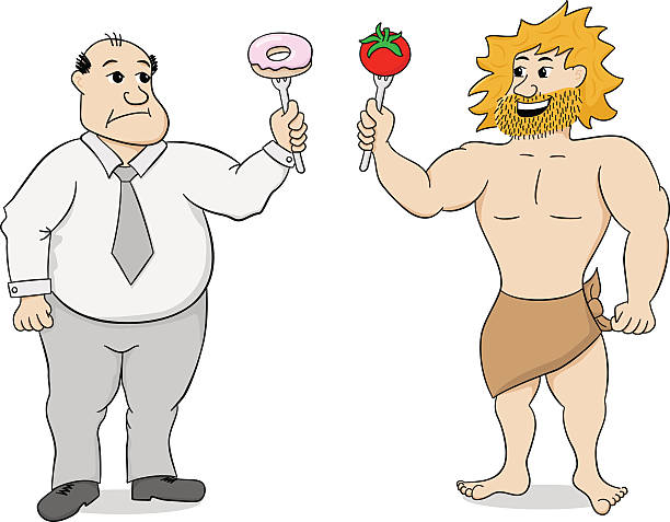 paleo diet and fast food - paleo diet stock illustrations, clip art, cartoons, & icons