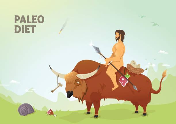 paleo diet - paleo diet stock illustrations, clip art, cartoons, & icons