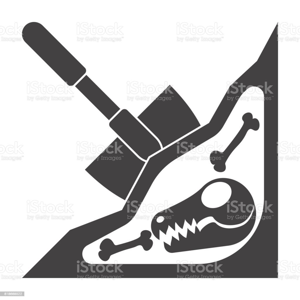 Paleontology Vector Icon vector art illustration