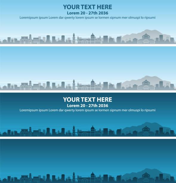 illustrazioni stock, clip art, cartoni animati e icone di tendenza di palermo skyline profile event banner - palermo città