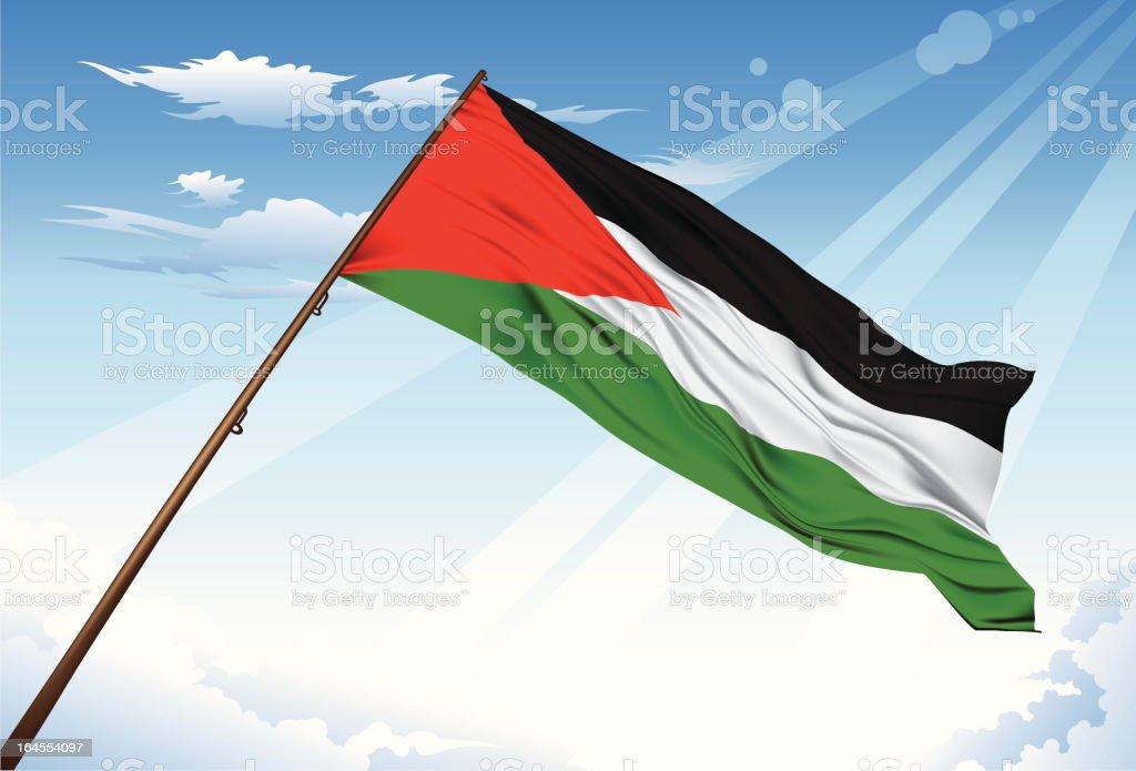 Palestine flag royalty-free stock vector art