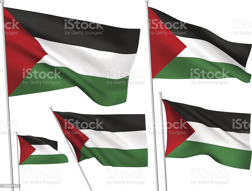 Palestine vector flags royalty-free stock vector art
