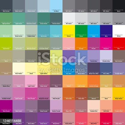 CMYK palette for artist and designer. EPS 8 vector file included