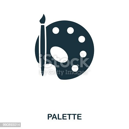Palette icon. Line style icon design. UI. Illustration of palette icon. Pictogram isolated on white. Ready to use in web design, apps, software, print