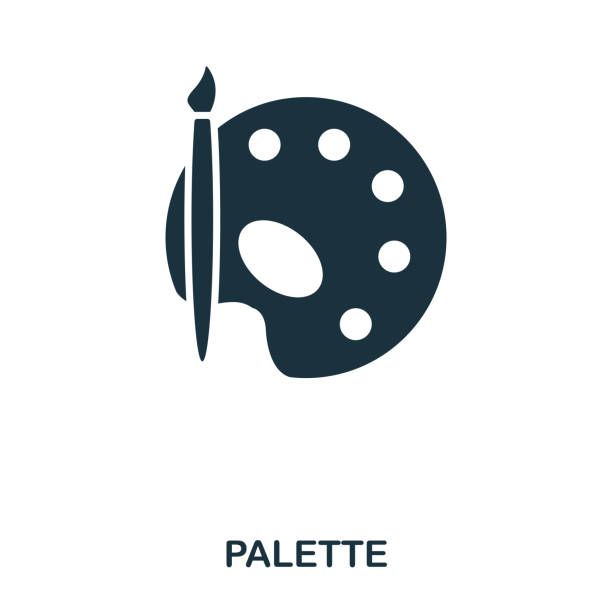 illustrazioni stock, clip art, cartoni animati e icone di tendenza di palette icon. line style icon design. ui. illustration of palette icon. pictogram isolated on white. ready to use in web design, apps, software, print. - tavolozza