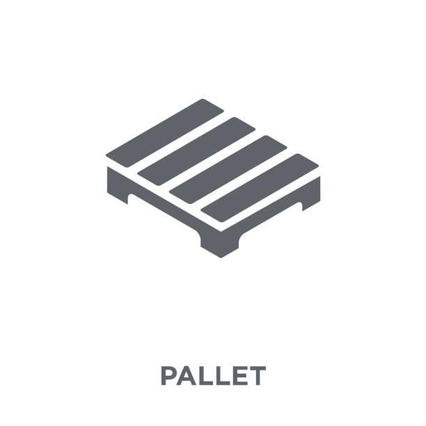 stockillustraties, clipart, cartoons en iconen met pallet pictogram van levering en logistieke collectie. - pallet