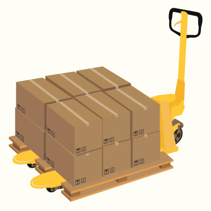 Pallet Truck and boxes