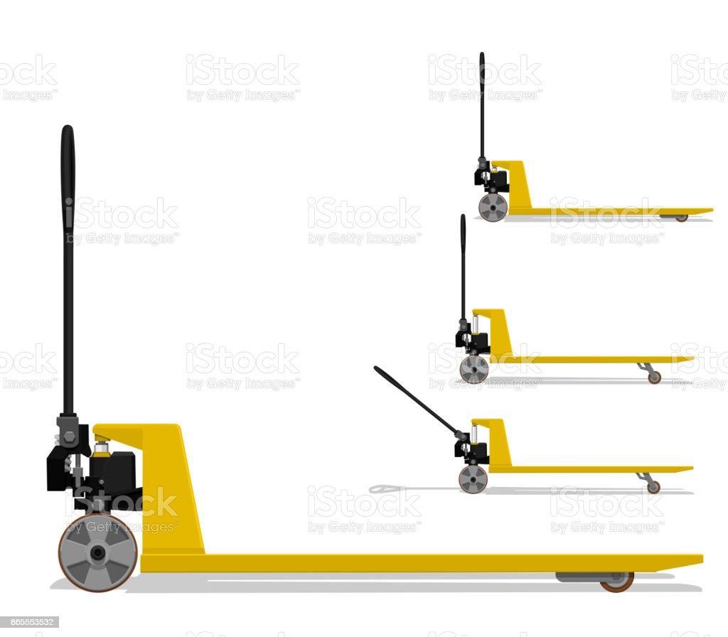 Pallet truck vector art illustration