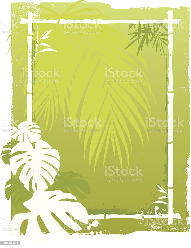 Palm background royalty-free stock vector art