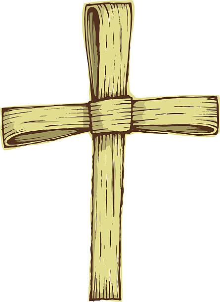 palm cross - palm sunday stock illustrations, clip art, cartoons, & icons