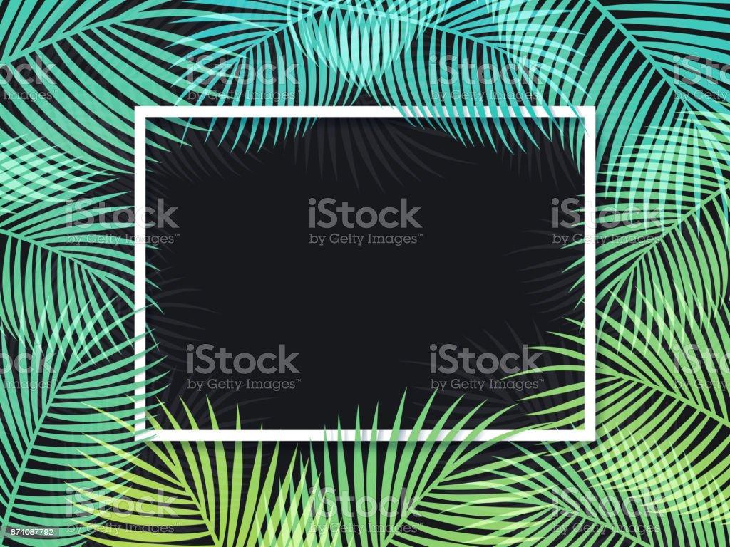 Palm Frame Background