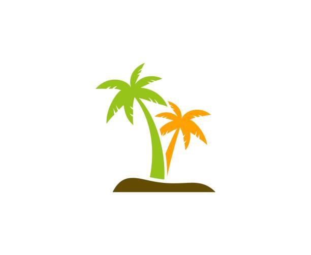 illustrations, cliparts, dessins animés et icônes de icône de palm - palmier