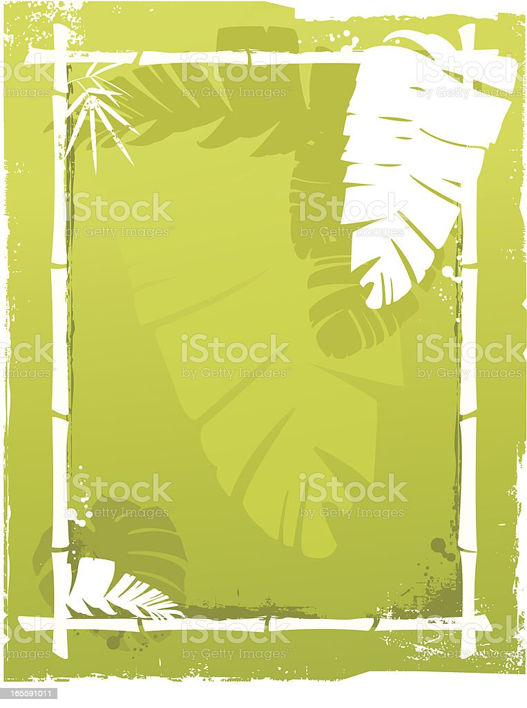 Palm leaf background royalty-free stock vector art