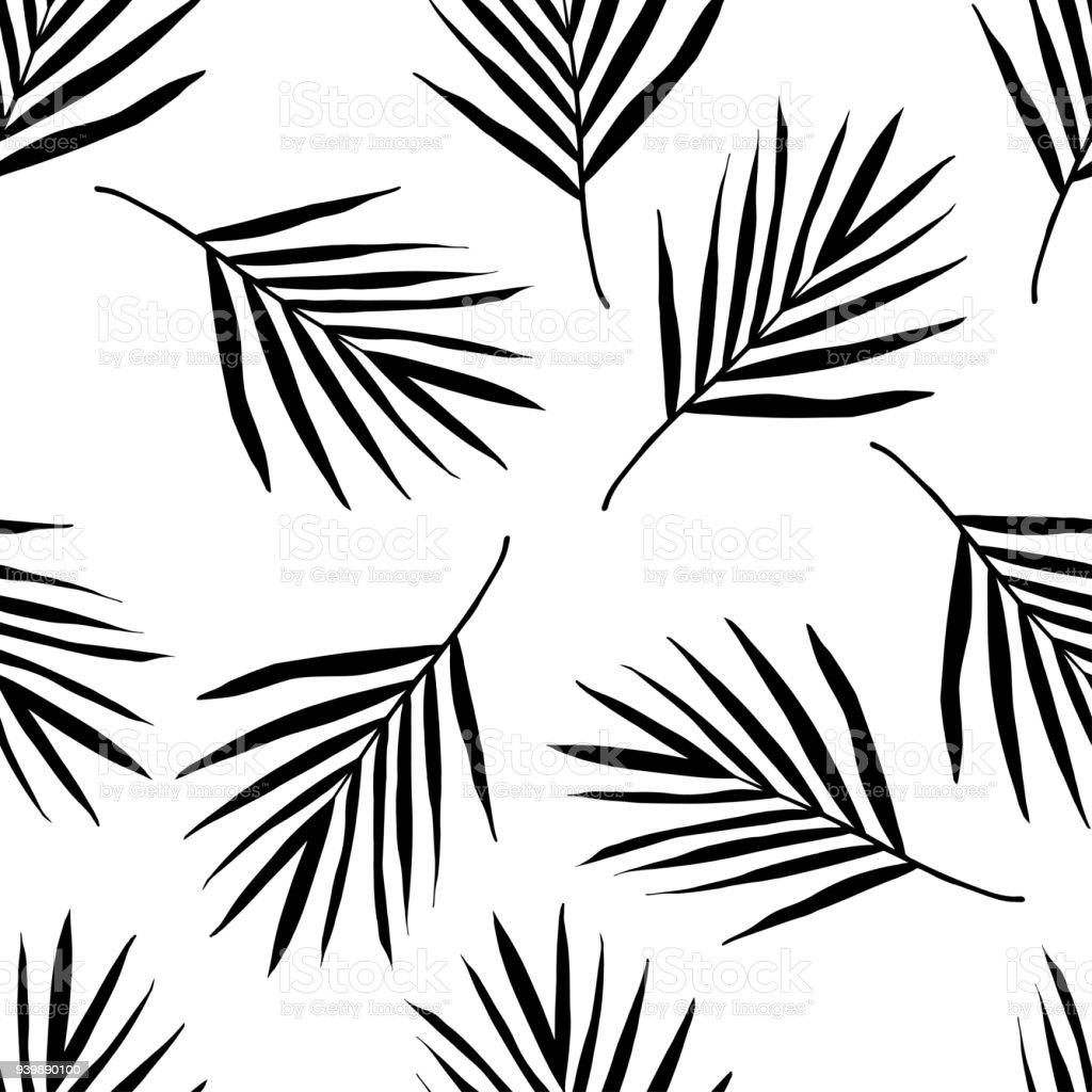 Palm leaf pattern