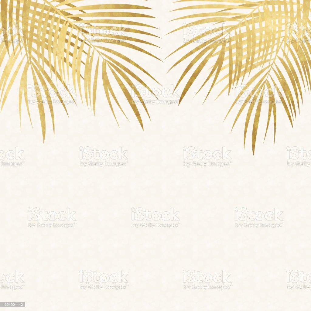 Palm Leaf Vector Background Illustration palm leaf vector background illustration - immagini vettoriali stock e altre immagini di albero royalty-free