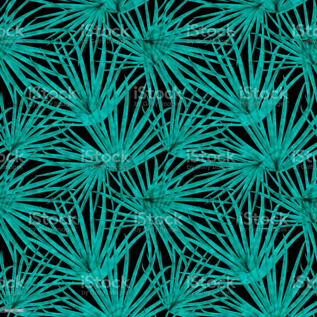 Palm Leaf Vector Seamless Pattern Background Illustration palm leaf vector seamless pattern background illustration - immagini vettoriali stock e altre immagini di albero royalty-free