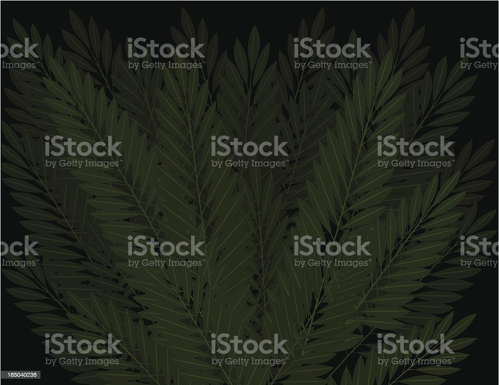Palm Leaves Background royalty-free stock vector art
