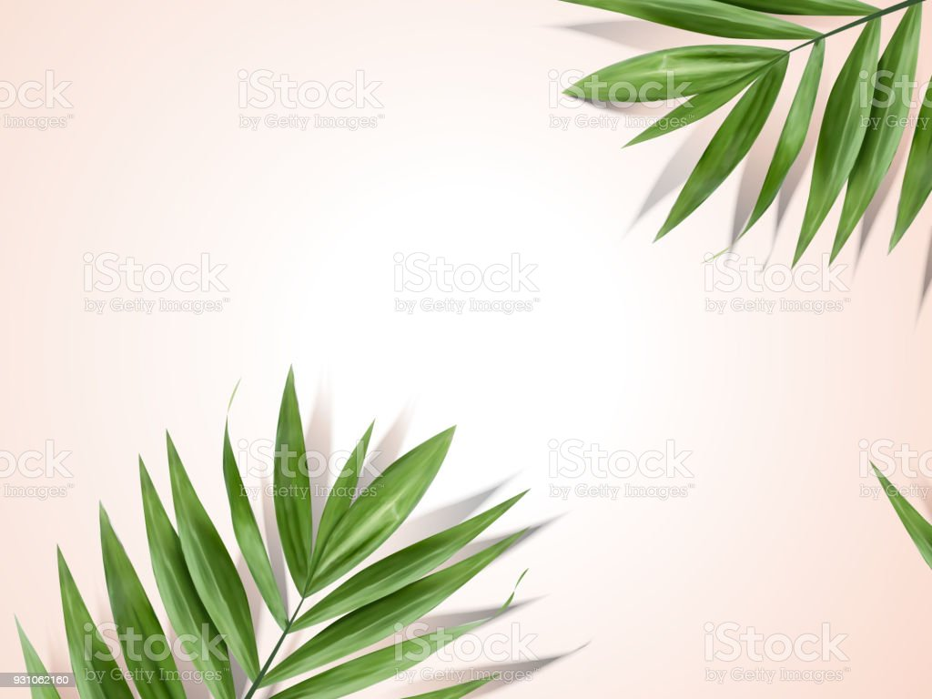 Palm leaves background royalty-free palm leaves background stock illustration - download image now