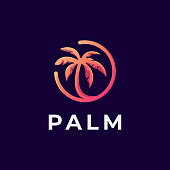 Palm logotype vector template