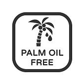 Palm oil free vector icon