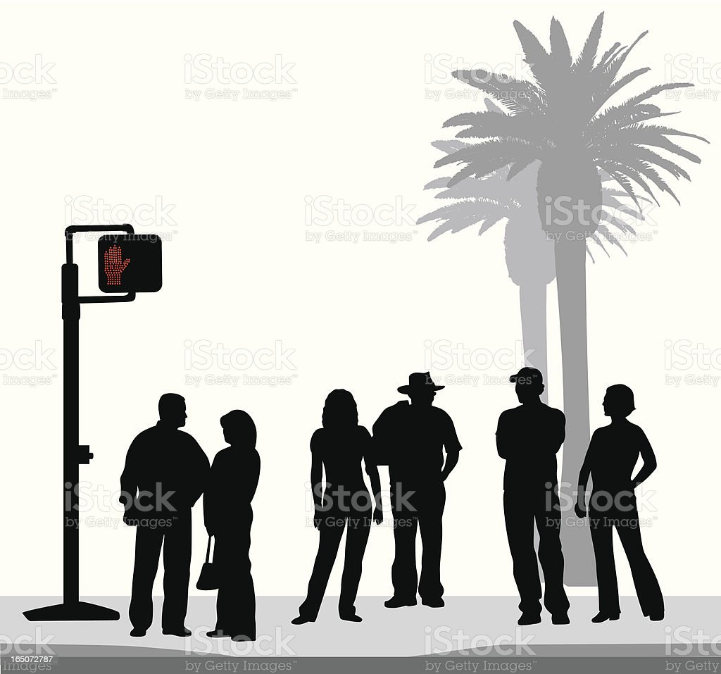 Palm Street Vector Silhouette royalty-free stock vector art