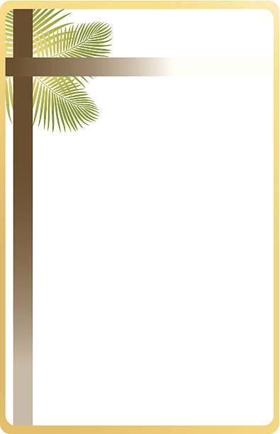 palm sunday frame c - palm sunday stock illustrations, clip art, cartoons, & icons