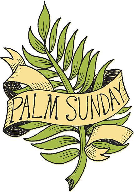 palm sunday graphic - palm sunday stock illustrations, clip art, cartoons, & icons
