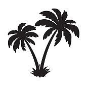 palm tree coconut vector icon island logo dolphin character illustration symbol