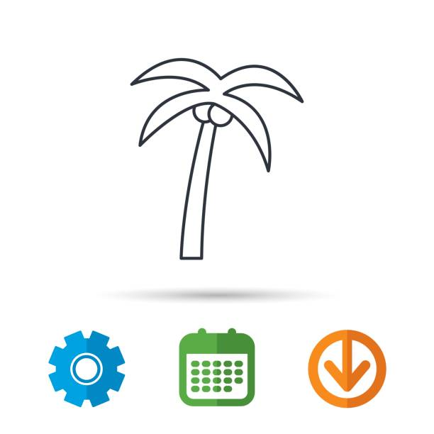 Palm Tree Icon Travel Or Vacation Symbol Stock Vector Art More