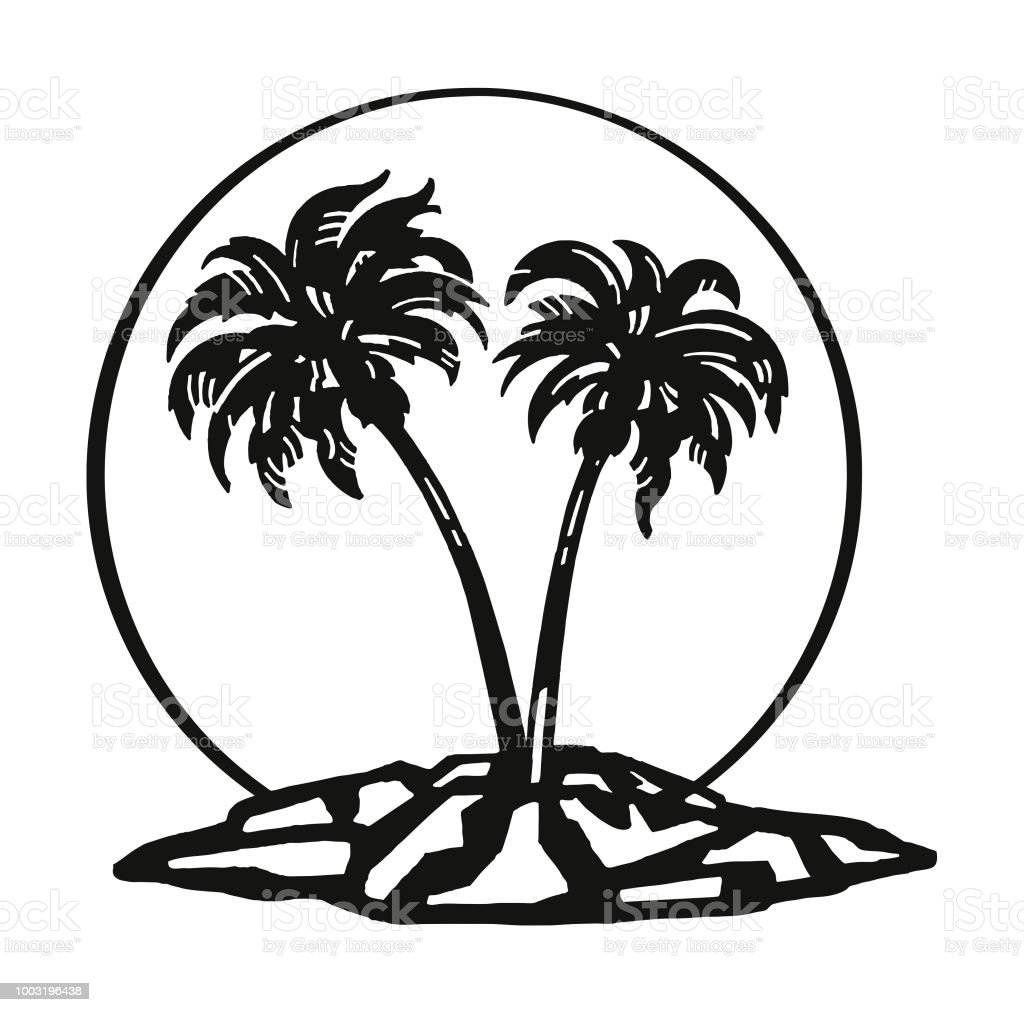 Palm Tree Island: Palm Tree Island Stock Illustration