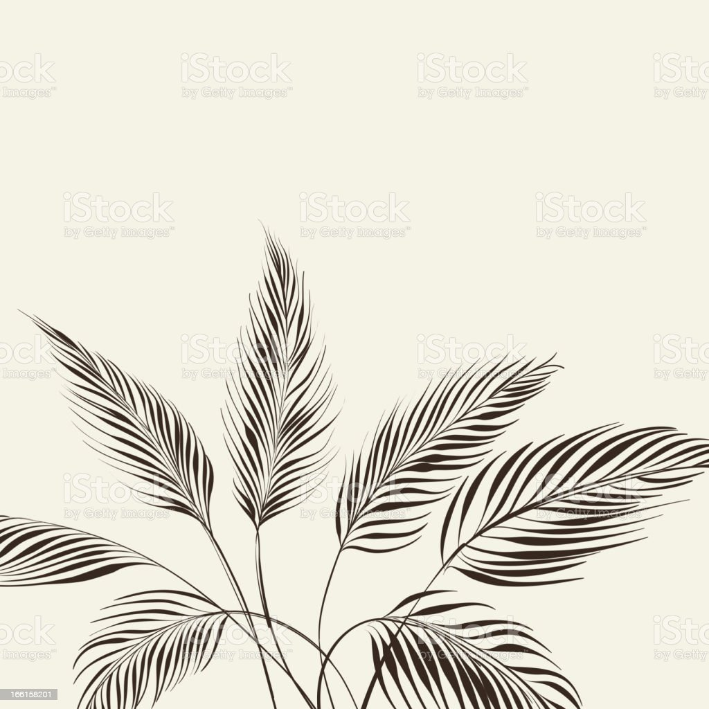 Palm tree over bamboo forest royalty-free palm tree over bamboo forest stock vector art & more images of beige