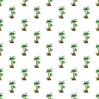 Palm Tree Pattern Seamless Stock Illustration - Download