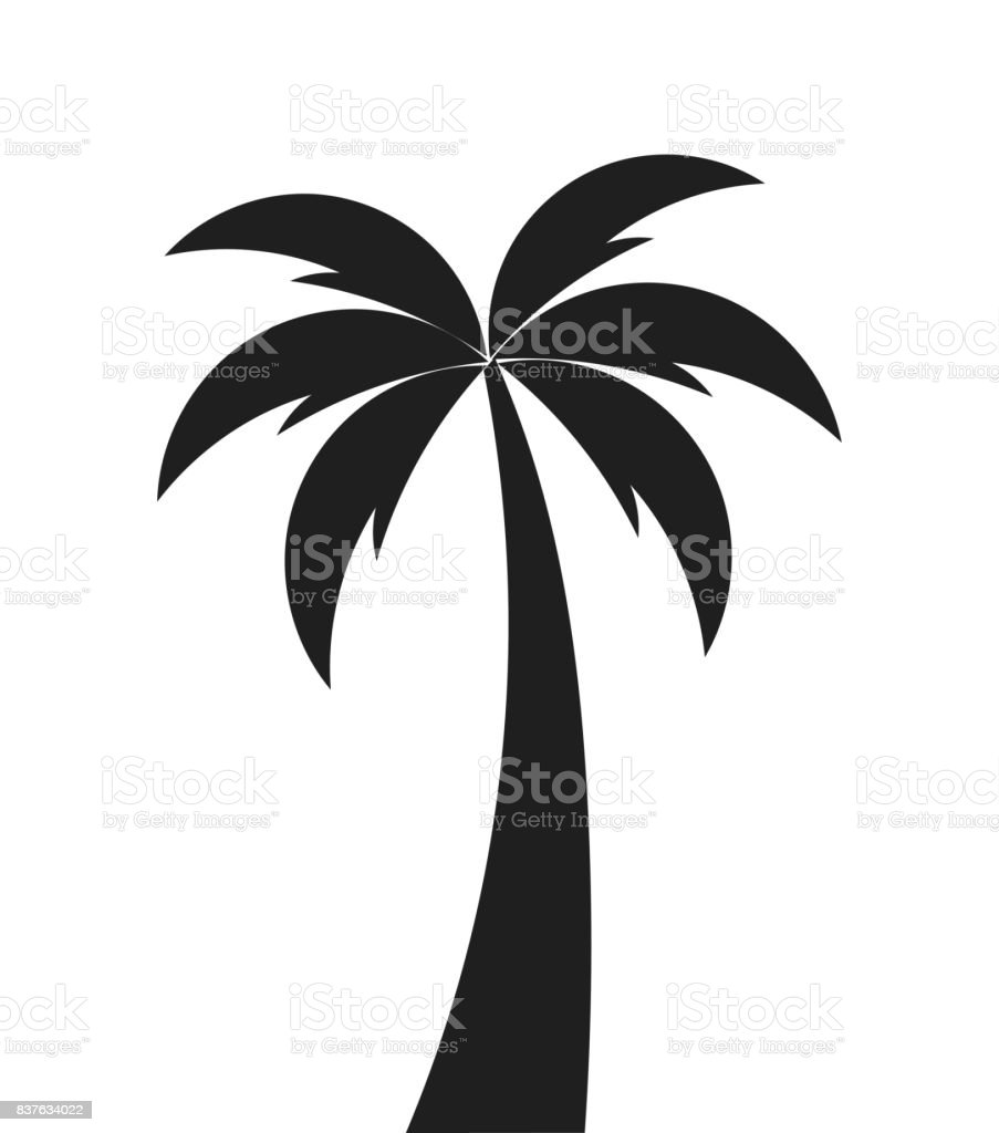 palm tree shape icon stock vector art more images of art 837634022 rh istockphoto com vector palm tree free vector palm tree clip art