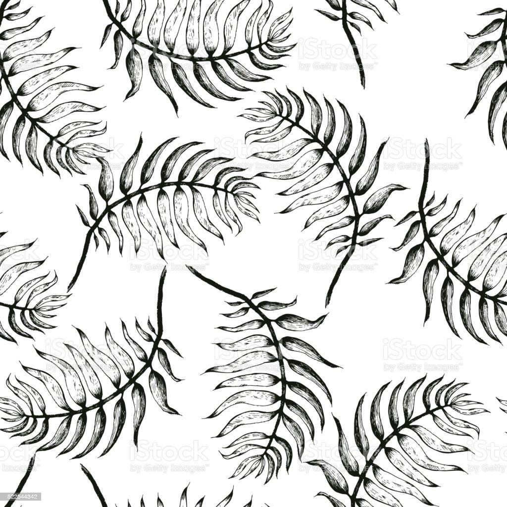 palm baum skizze ein stock vektor art und mehr bilder von ast