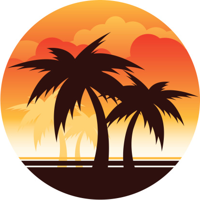 Palm Tree Sunset Stock Illustration - Download Image Now