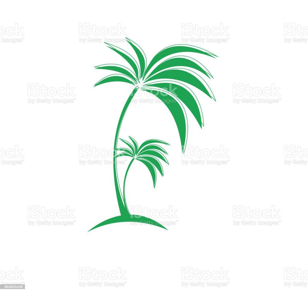 Palm Tree Symbol Illustration Stock Vector Art More Images Of Art