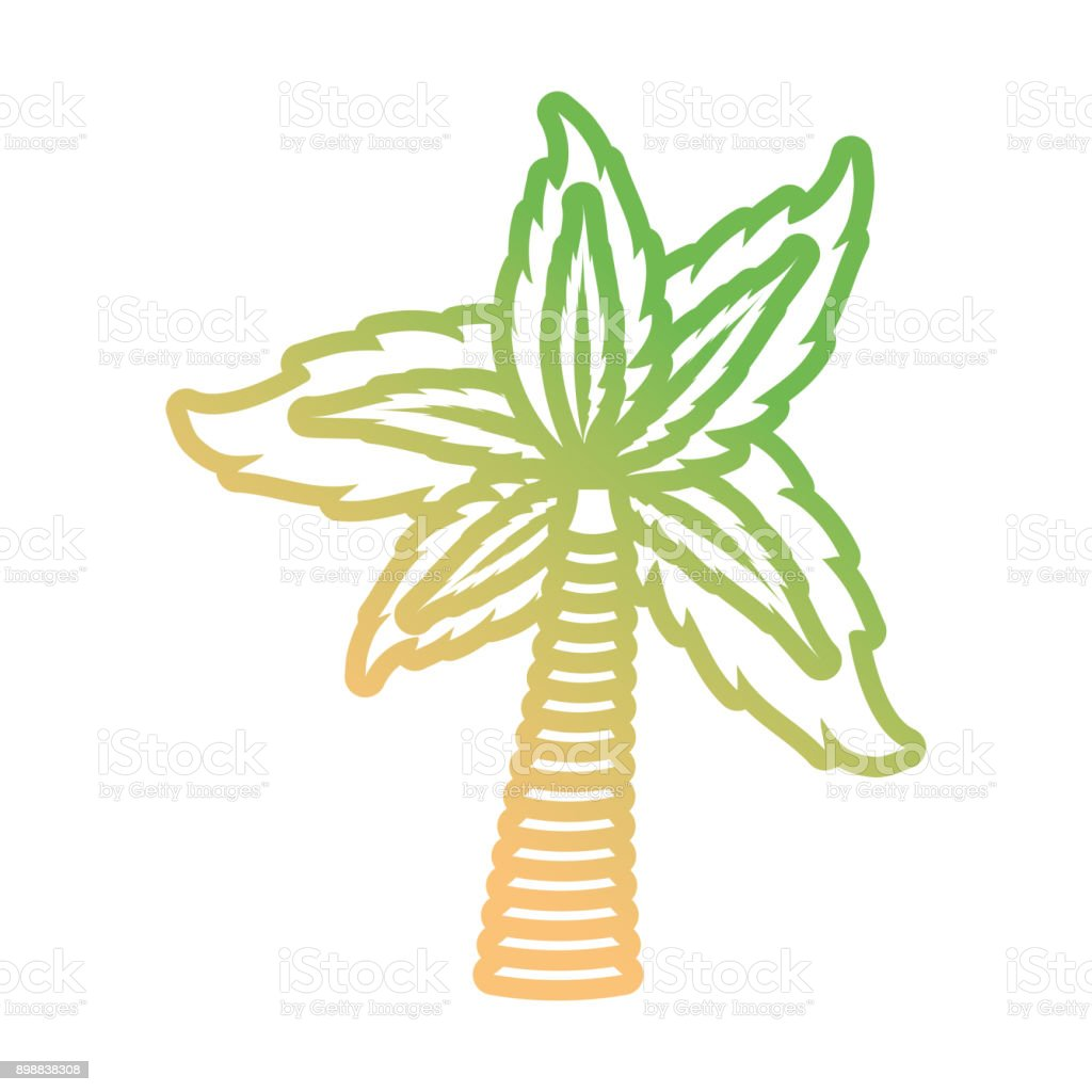 Palm Tree Symbol Neon Lines Stock Vector Art More Images Of Art