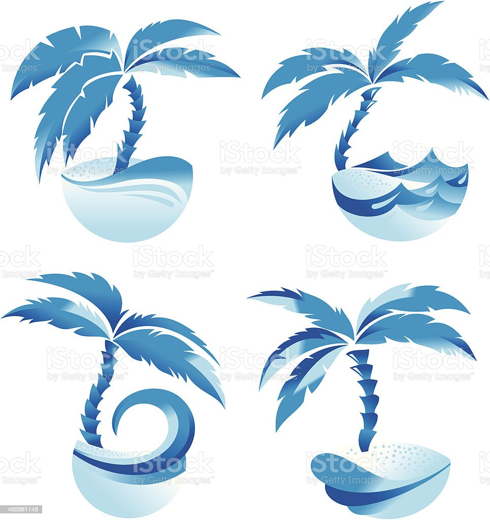 Palm tree royalty-free palm tree stock vector art & more images of abstract