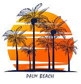 Tropical sandy beach background