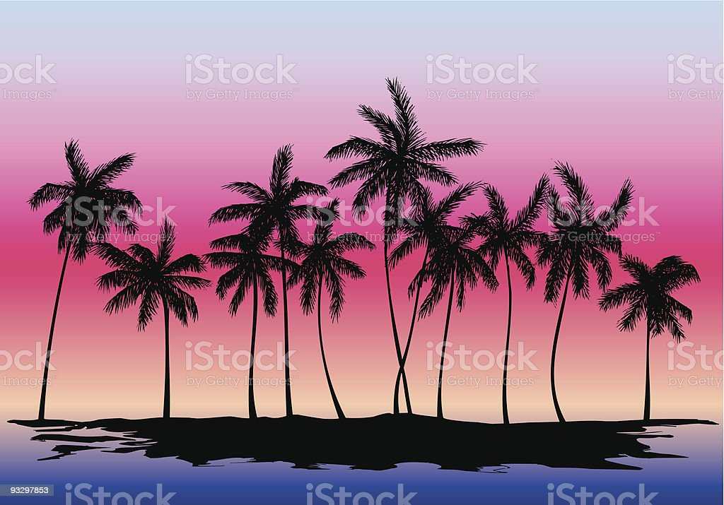 Palm trees royalty-free stock vector art