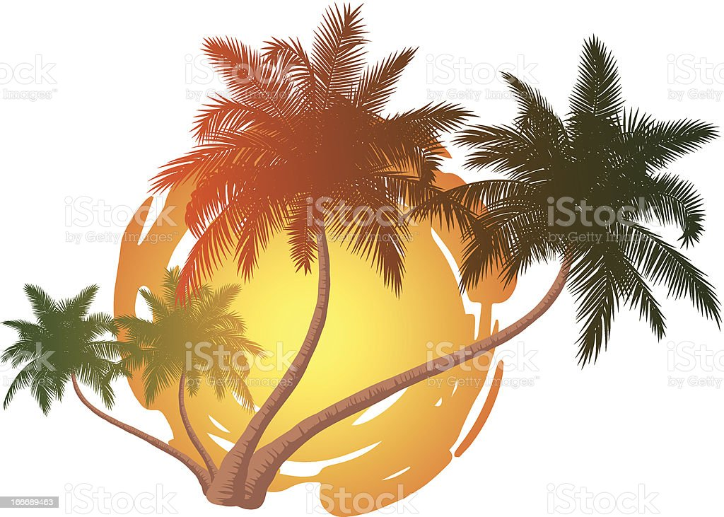 Palmen mit Sonne royalty-free palmen mit sonne stock vector art & more images of abstract