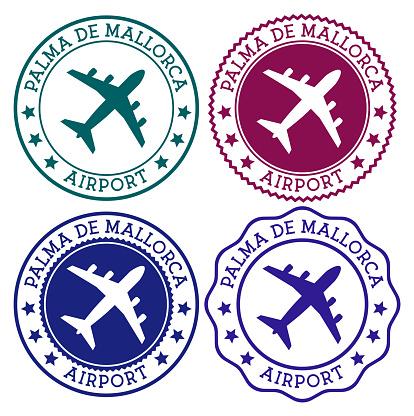Palma De Mallorca Airport. Palma De Mallorca airport logo.